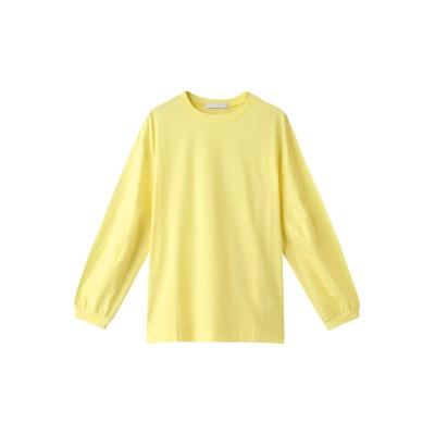 JET ジェット 【JET NEWYORK】【ウォッシャブル】コットンスリーブタックデザインロングTシャツ レディース レモンイエロー 04(M)