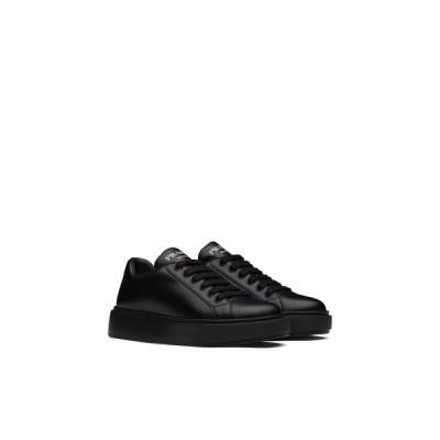 プラダ PRADA スニーカー シューズ 靴 ネロ ブラック カーフレザー