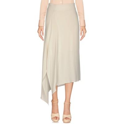 INTROPIA 7分丈スカート ホワイト 36 レーヨン 63% / キュプラ 37% 7分丈スカート