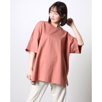 コムサイズム COMME CA ISM ビックTシャツ オーバーサイズ (ピンク)