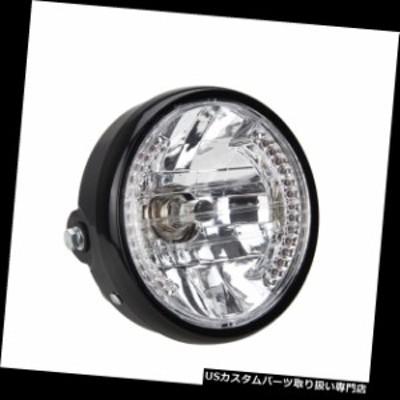 """バイク ヘッドライト 普遍的な7 """"オートバイのヘッドライトのこはく色LEDの方向指示器ライト  Universal 7"""" Motorcycle Headlight Amber"""