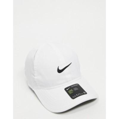 ナイキ メンズ 帽子 アクセサリー Nike Aerobill Featherlight adjustable cap in white White