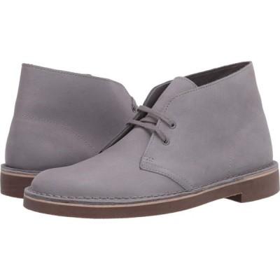 クラークス Clarks メンズ シューズ・靴 Bushacre 2 Light Grey Interest Nubuck