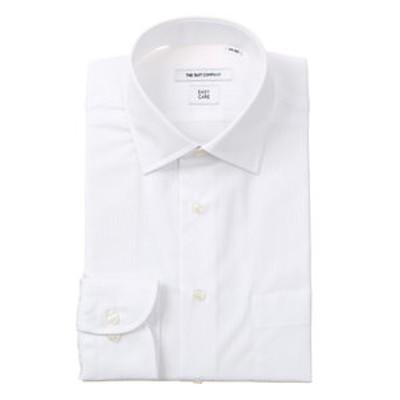 ワイドカラードレスシャツ シャドーストライプ 〔EC・FIT〕