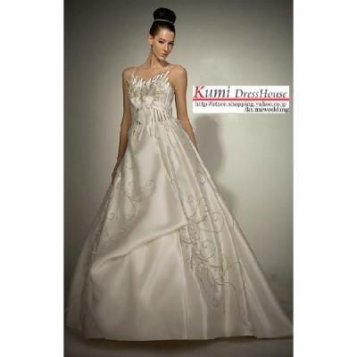 wdy1123 王妃のような風格をイメージさせる贅沢なウエディングドレス