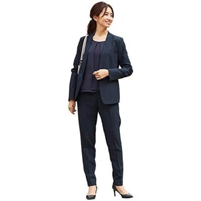 パンツスーツ レディース ビジネス レディーススーツ ノーカラー スーツ リクルートスーツ(s210204013)