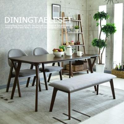 ダイニングテーブルセット 4人用 ベンチ ダイニングテーブル4点セット 幅150cm