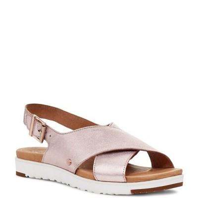 アグ レディース サンダル シューズ UGG Kamile Metallic Leather Slingback Sandals Blush Metallic
