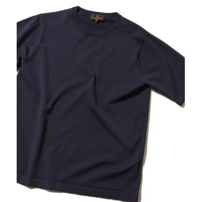 tシャツ Tシャツ 14Gプレーティング天竺ハイゲージニット