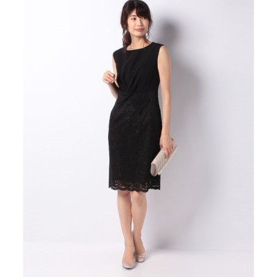 【エイミーパール(ドレス)】ネジリリボンデザインレースタイトドレス