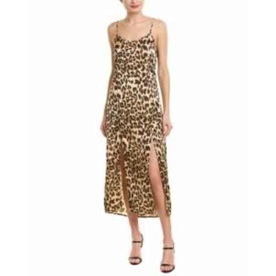 Maxi  ファッション ドレス City Sleek Satin Maxi Dress L Brown