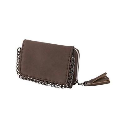 [クロスマーベリー] コンパクト 三つ折り財布 チェーン ミニ 財布 タッセルチャーム 小銭入れ お札入れ ウォレット 小型 軽量 かわいい サイフ