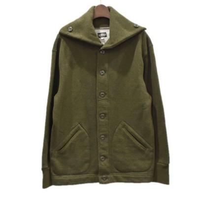 BLACK SIGN カシミヤ混 スウェットジャケット カーキ サイズ:38 (四ツ橋店) 201116