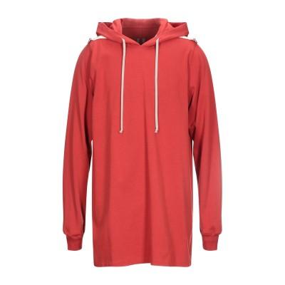 リック オウエンス RICK OWENS スウェットシャツ レッド S コットン 100% スウェットシャツ