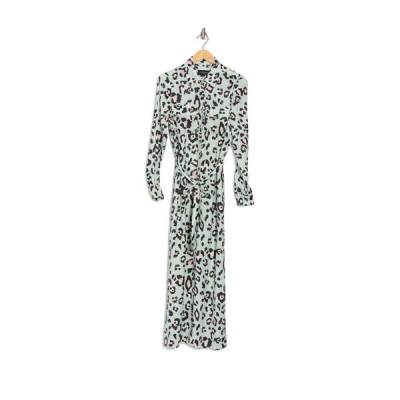 デイヴィッドラーナー レディース ワンピース トップス Lola Safari Maxi Shirt Dress PAINTED LEOPARD