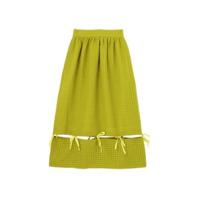 merry jenny リボンつなぎスカート ライトグリーン