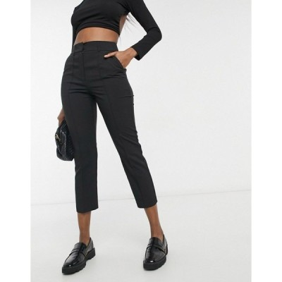 エイソス レディース カジュアルパンツ ボトムス ASOS DESIGN tailored smart mix & match cigarette suit pants in black Black