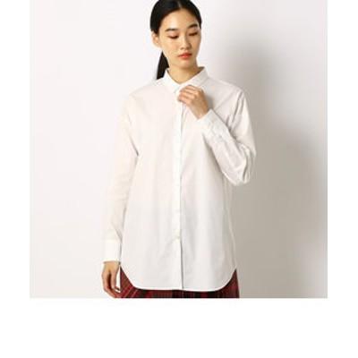 ゆったりシルエットのシンプルシャツ