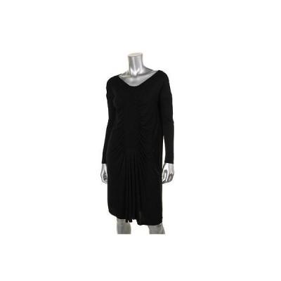 キャサリンマランドリーノ ドレス ワンピース キャットherine Malandrino 9418 レディース ブラック Jersey Knee-Length カジュアル ドレス 4 BHFO