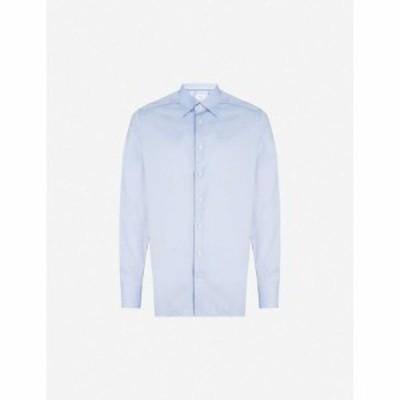 イートン ETON メンズ シャツ トップス Contemporary-fit cotton shirt Blue