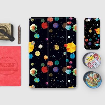 漁夫原創 iPad mini 4 保護殼 7.9吋 黑色星空 (三折式/軟殼/無筆槽)