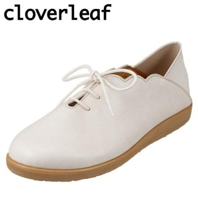 クローバーリーフ cloverleaf ROB2180 レディース | バブーシュ カジュアルシューズ | 日本製 国産 | ホワイト