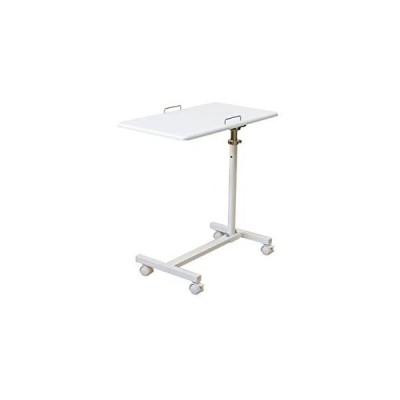 キャスター付きサイドテーブル 高さ調節 ホワイト TX-06WH