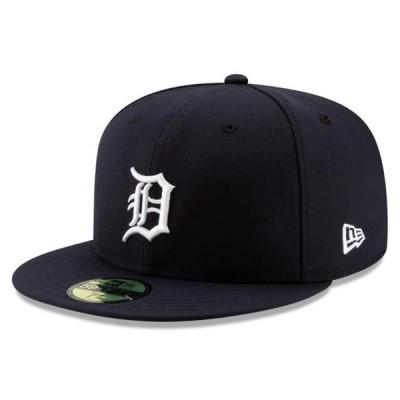 ユニセックス スポーツリーグ メジャーリーグ Detroit Tigers New Era Home Authentic Collection On-Field Logo 59FIFTY Fitted Hat - Na