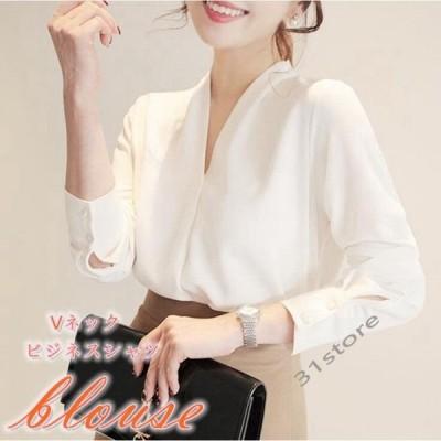 ブラウスレディースシャツTシャツゆったり大きいサイズ白シャツ長袖体型カバーカジュアルシャツシンプルビジネス2021新品