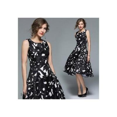 パーティードレス 結婚式 黒白 ワンピース フォーマルドレス お呼ばれ ドレス ブライズメイド 上品 20代30代40代 大きいサイズ 着痩せ