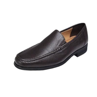 マドラスモデロメンズシューズスリッポン紳士靴ローファースタイルのシンプルなデザイン7672ダークブラウン