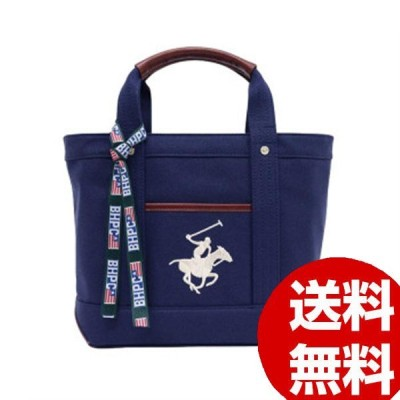 BEVERLY HILLS POLO CLUB キャンバストートバッグS BH1007N-NV/NV/WH