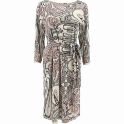 エトロ Etro レディース ワンピース ワンピース・ドレス Paisley Print Dress With Belt Beige