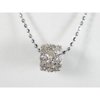 K18WG ダイヤ ペンダント ネックレス