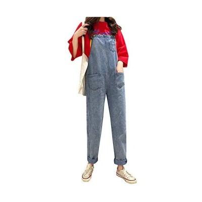 [ウンセン]ファッション レディース ゆったりオーバーオールファッションロングパンツ春通学オールインワン (