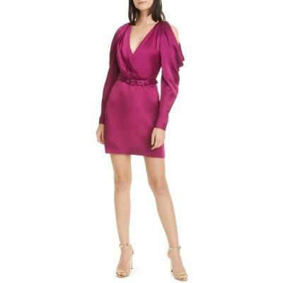 ジョナサンシムカイ レディース ワンピース トップス Classic Woven Pleated Sleeve Dress MAGENTA