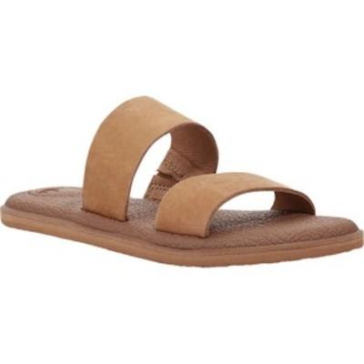 サヌーク レディース サンダル シューズ Yoga Gora Slide Tan Leather