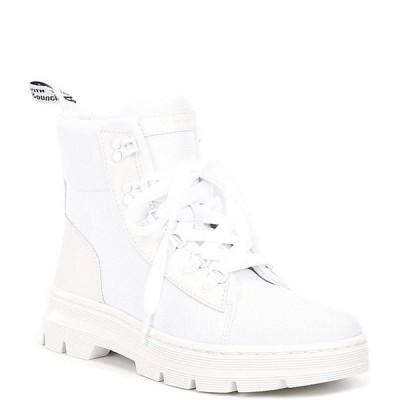ドクターマーチン レディース ブーツ・レインブーツ シューズ Women's Combs Leather & Nylon Combat Boots