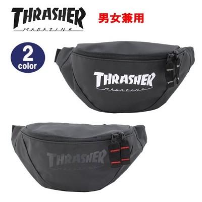 THRASHER スラッシャー バッグ ウエストバッグ THR-121 PVCターポリン ロゴデザイン ワンショルダー ヒップバック 男女兼用 ag-296000
