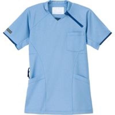 ナガイレーベンナガイレーベン ニットシャツ ブルー M JM-3142(取寄品)