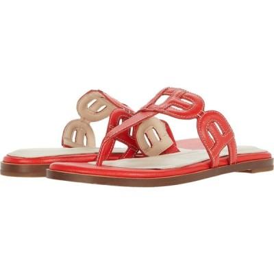 コールハーン Cole Haan レディース ビーチサンダル シューズ・靴 Anoushka Sandal Flame Scarlet Tumble Leather Natural Stitch/Dark Natural