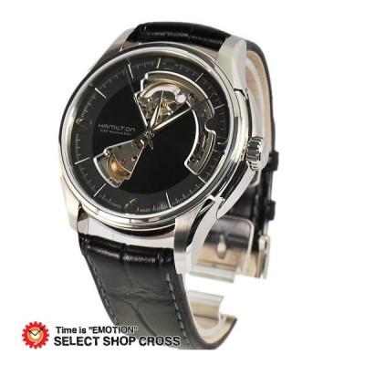 ハミルトン HAMILTON JAZZMASTER ミリタリー メンズ 腕時計 アナログ 自動巻き H32565735 レザー ブラック 黒 おしゃれ ポイント消化