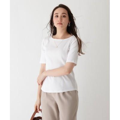 index / SUPIMA24/- ランダムリブバックスリットプルオーバー【WEB限定サイズ】 WOMEN トップス > Tシャツ/カットソー