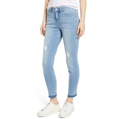 トッミーバハマ レディース デニムパンツ ボトムス Tema High Rise Raw Ankle Crop Jeans LT SKYLINE