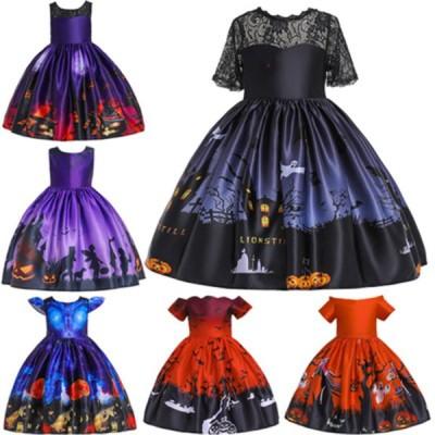 ハロウィン 仮装 2点セット ドレス+帽子 子供 女の子 子供 キッズ 魔女 悪魔 衣装 子供用 キッズドレス クリスマス