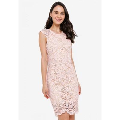 メガネ Megane レディース ボディコンドレス ワンピース・ドレス Red Romance Deysi Full Lace Dress Dusty Pink