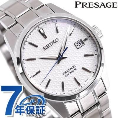 セイコー メカニカル プレザージュ プレステージライン 日本製 自動巻き メンズ 腕時計 SARX075 SEIKO Mechanical PRESAGE ホワイト