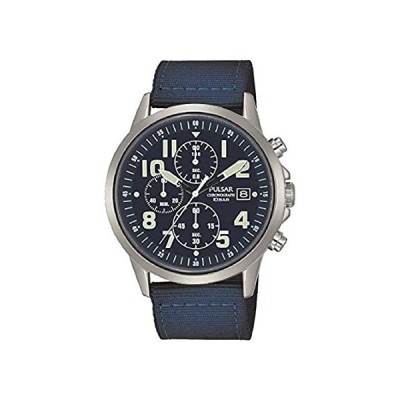 Pulsar Mens Military Watch with Blue Nylon Strap PM3177X1