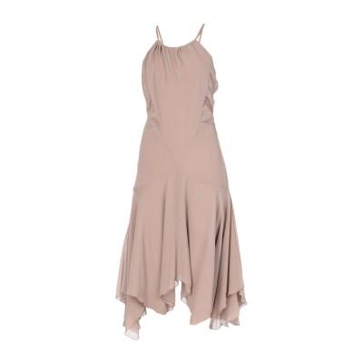 パトリツィア ペペ PATRIZIA PEPE 7分丈ワンピース・ドレス カーキ 40 シルク 100% 7分丈ワンピース・ドレス