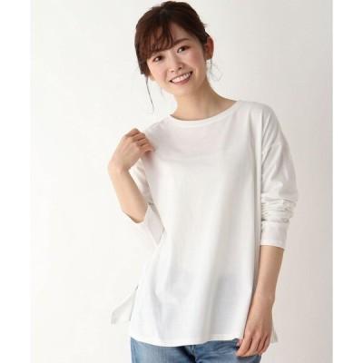 tシャツ Tシャツ 【M-LL/抗菌防臭/部屋干し対応】スクエアスリットロンT